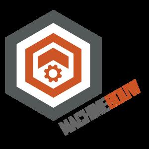 Machinebouw tekst icoon
