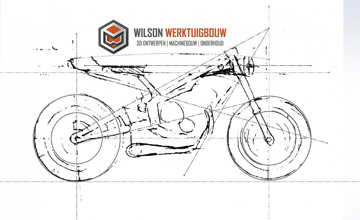 cafe racer wilson layout sketchboard